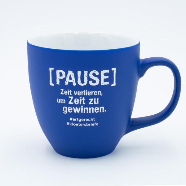 """artgerecht - """"Pause"""" Lieblingstasse (Blau) - 460 ml"""