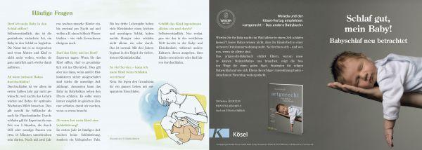 artgerecht - Faltblatt - Babyschlaf neu betrachtet Flyer (10 Stück)