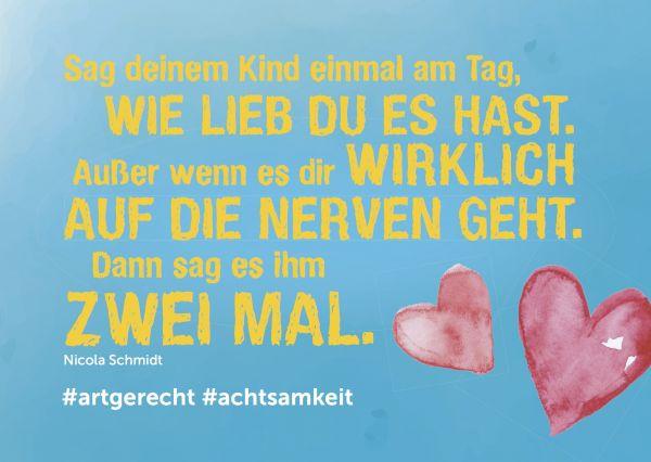 """artgerecht - Postkarte """"Ich hab dich lieb"""" (1 Stück oder 10 Stück)"""