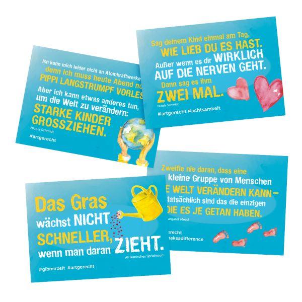 artgerecht - Postkarten-Set (4 Motive)